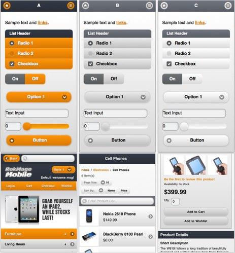 Magento Mobile Template. mobile designmaz. em manwear fashion ...